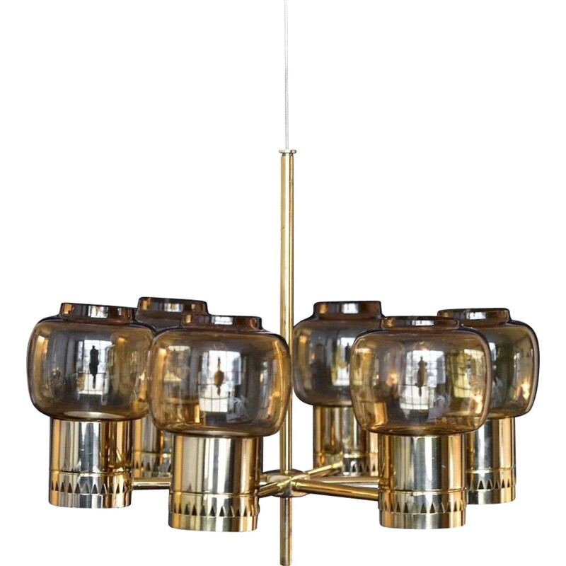 Hanging lamp and candle holder hurricane by Hans Agne Jakobsson - 1950s