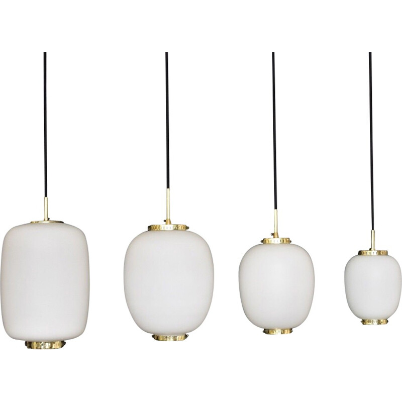Large hanging lamp by Bent Karlby for Lyfa - 1950s