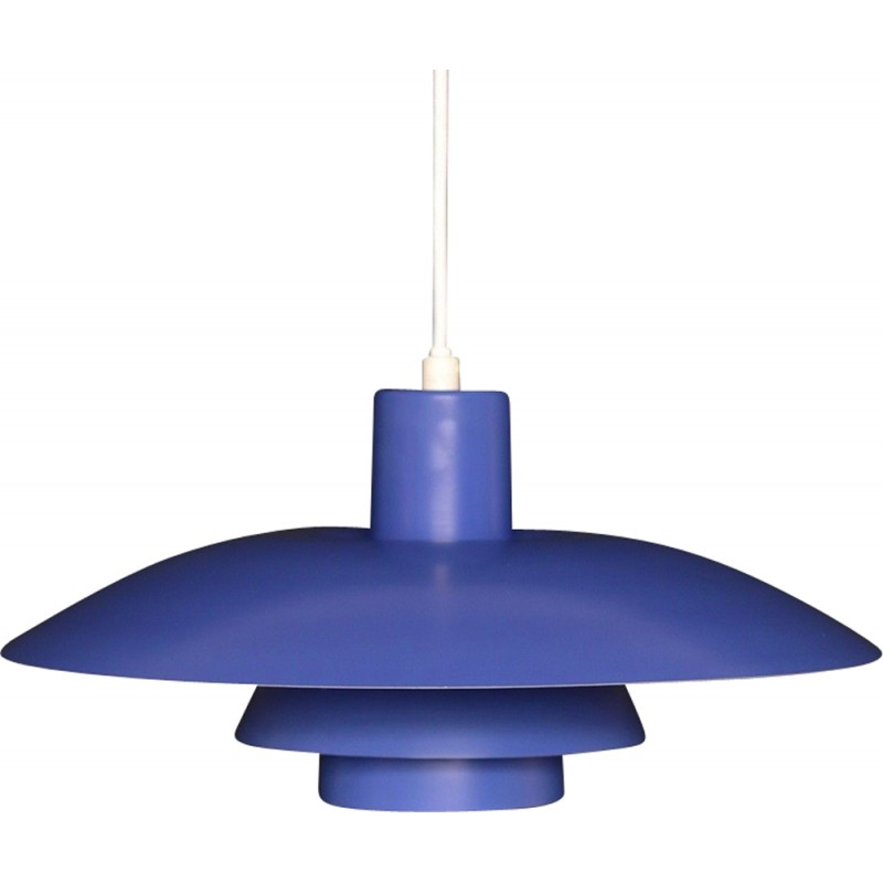 "Blue pendant lamp ""PH43"" by Louis Poulsen  for Poul Henningsen - 1950s"