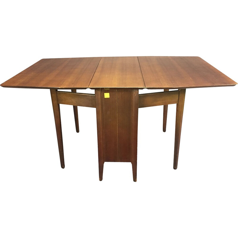 Gateleg walnut table - 1970s