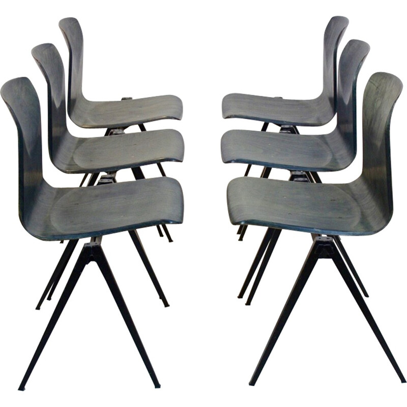 Stackable Pagholz Galvanitas S22 Industrial Diner Chair - 1960s
