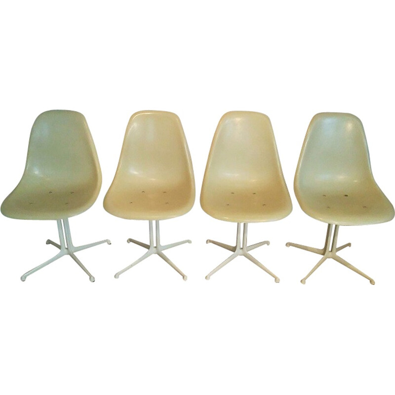 """Set of 4 """"La Fonda"""" chairs by Eames for Herman Miller - 1960s"""