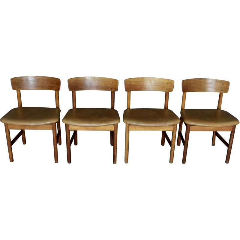 Set of 4 3236 by Børge Mogensen for Fredericia Furniture - 1960s