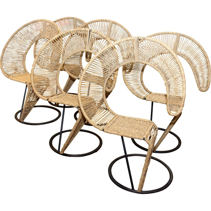 Set of 6 Chairs by Tom Dixon - 1980s