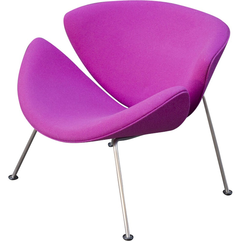 "Purple ""Orange Slice"" Armchair by Pierre Paulin for Artifort - 1970s"