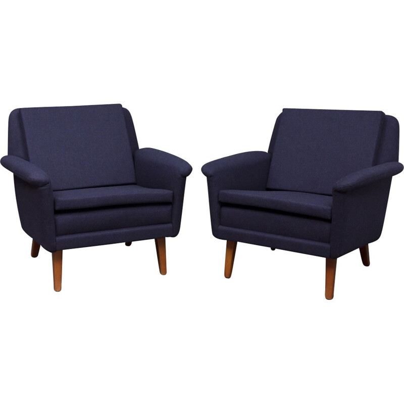 Pair of easy chairs by Folke Ohlsson for Fritz Hansen - 1960s