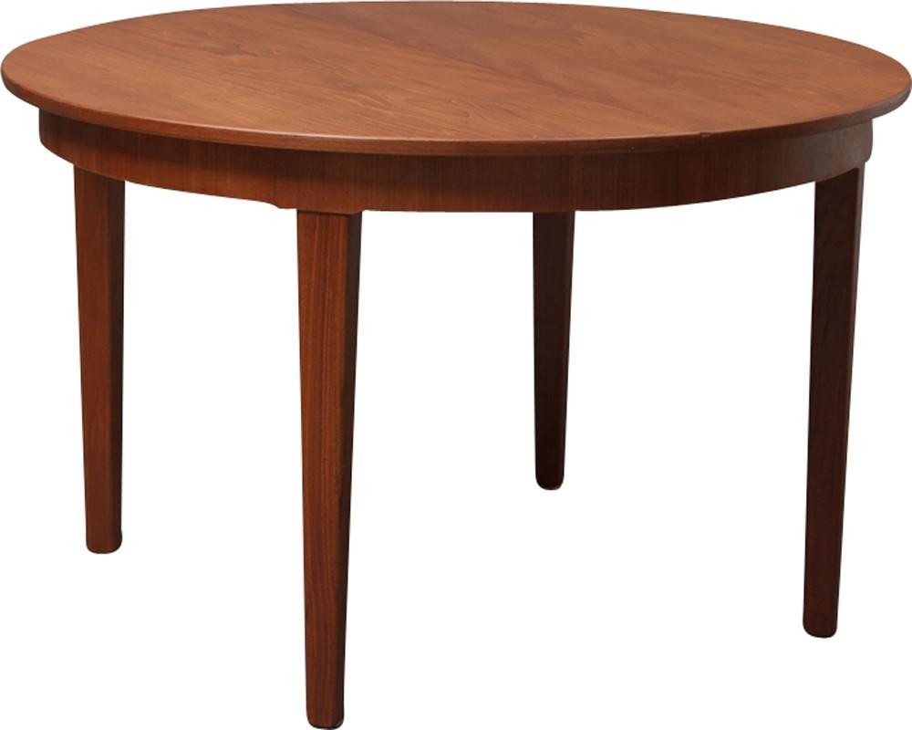 Vintage Round Danish Teak Dining Table   1960s. Previous Next