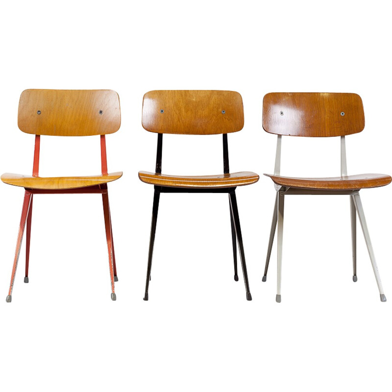 Set of 3 chairs Friso Kramer, 1 st edition - 1950s