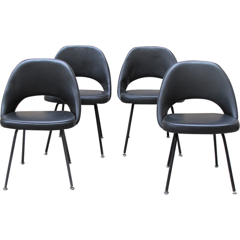 Set of 4 chairs, model conference by Eero Saarinen - 1960s