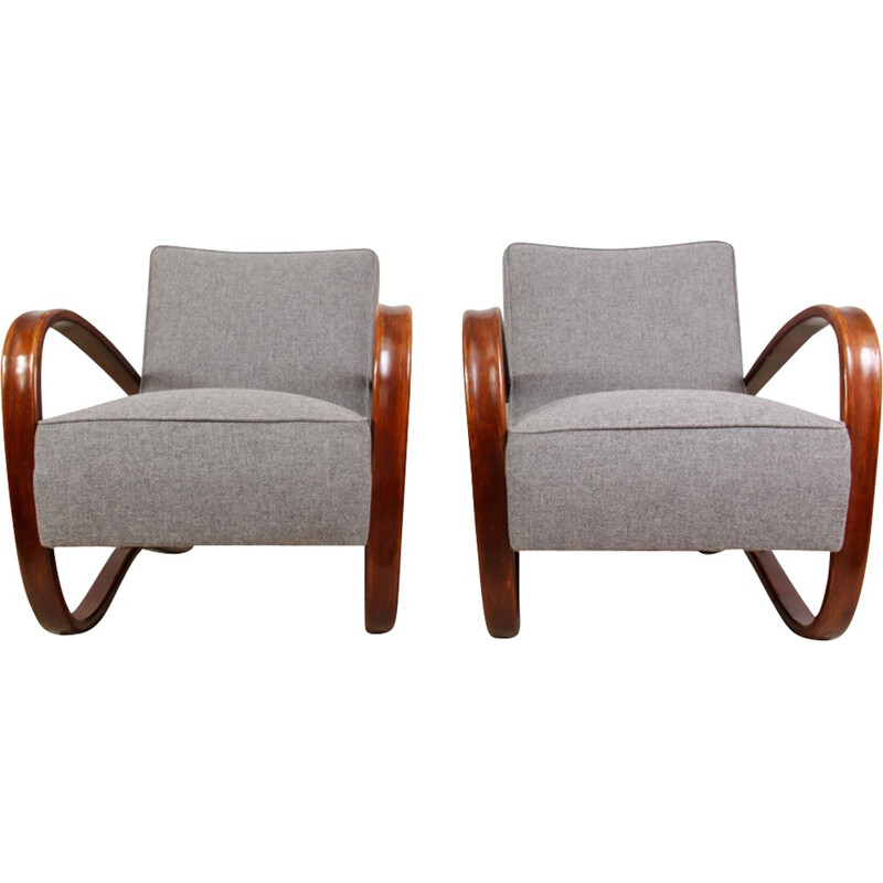 Pair of H269 armchairs by Halabala for Thonet - 1930s