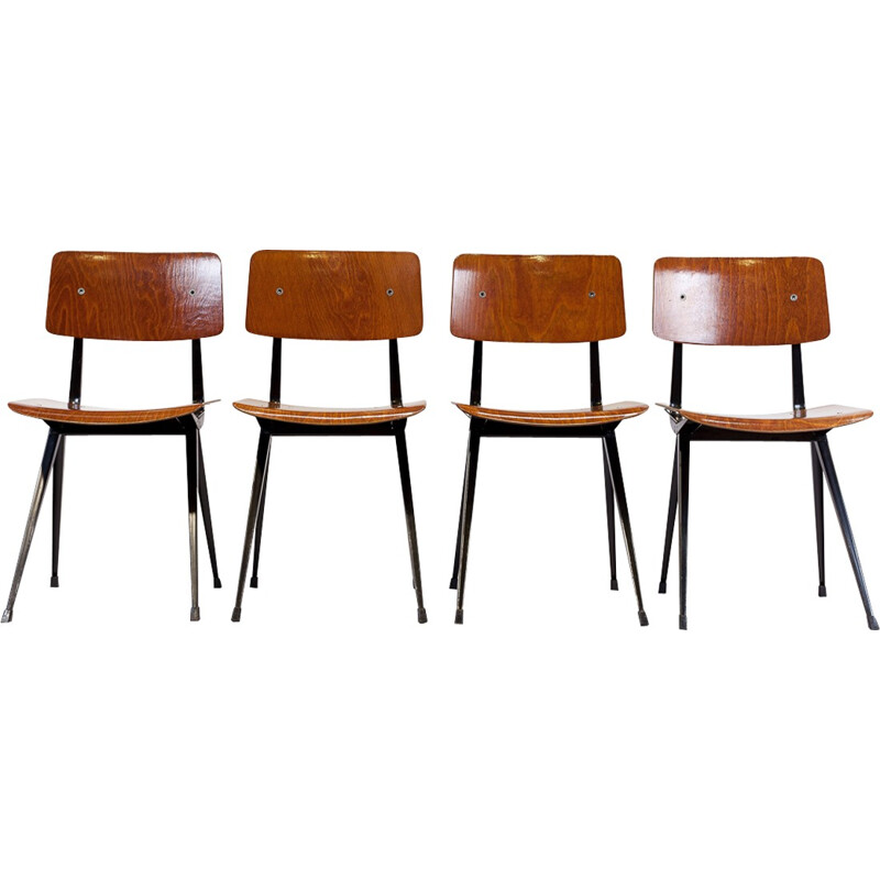 Set of 4 chairs model result by Friso Kramer - 1960s