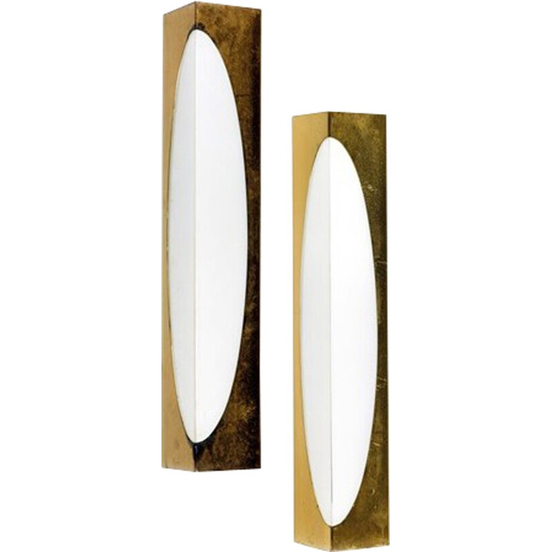 Pair of wall lamps by Jean Perzel - 1960s