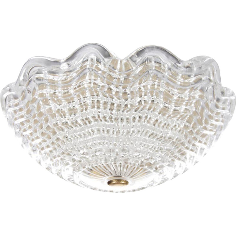 Scandinavian crystal ceiling light by Carl Fagerlund for Orrefors - 1960s