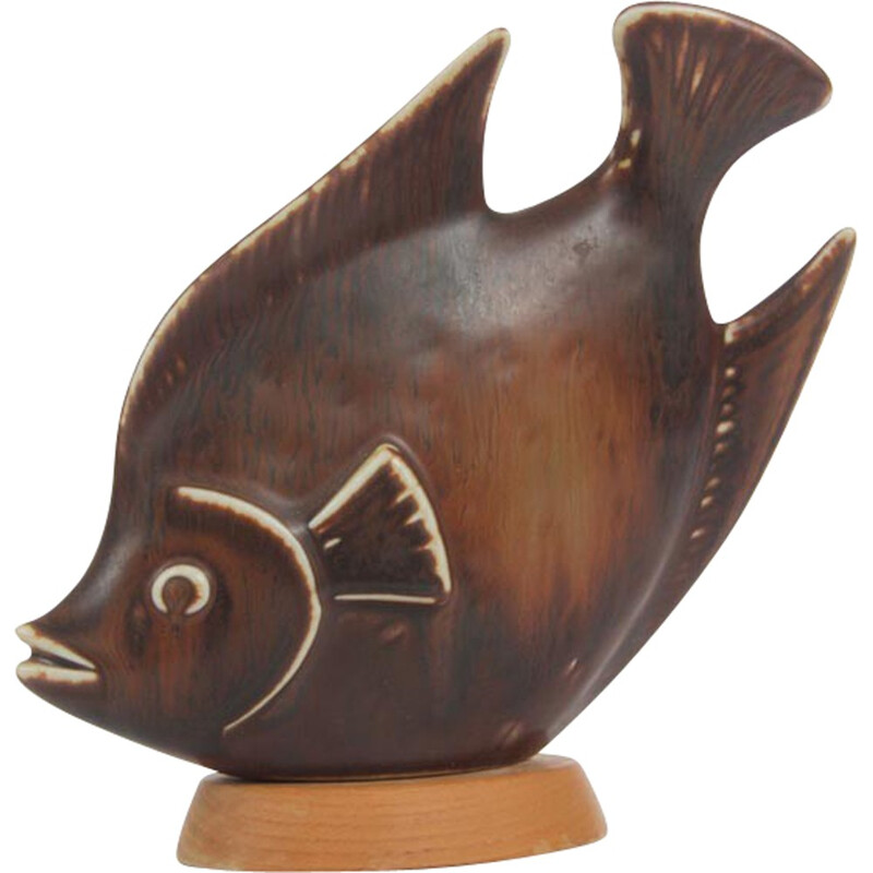 Scandinavian fish in ceramic by Gunnar Nylund for Rorstrand - 1960s