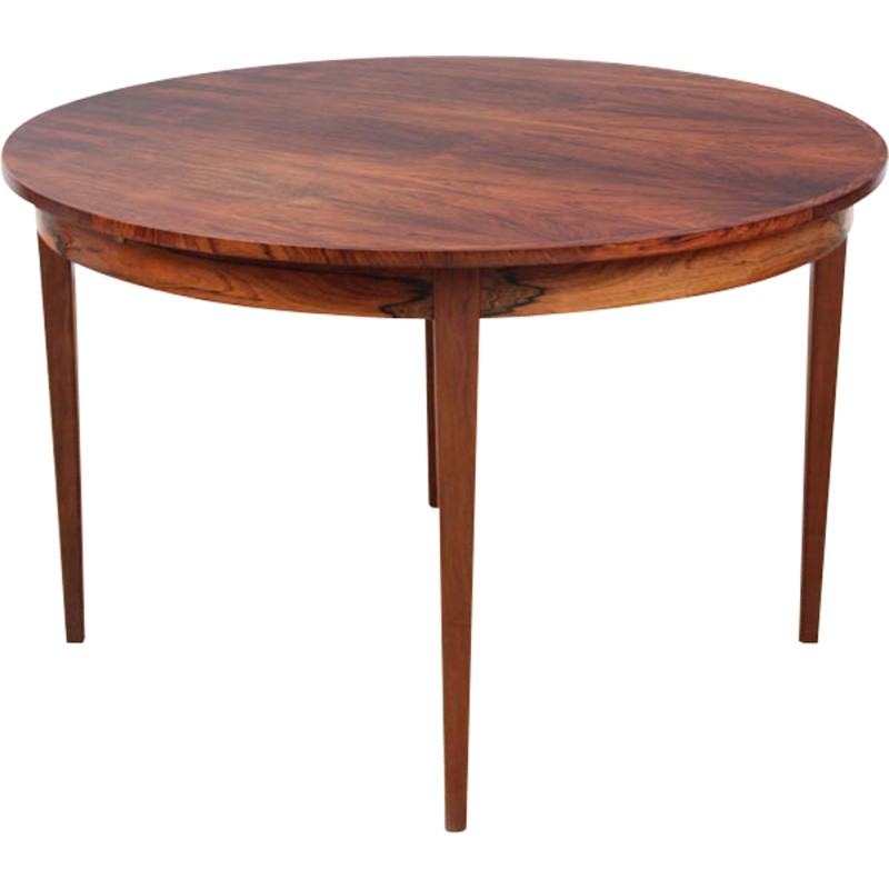 Scandinavian round dining table in Rio rosewood - 1970s