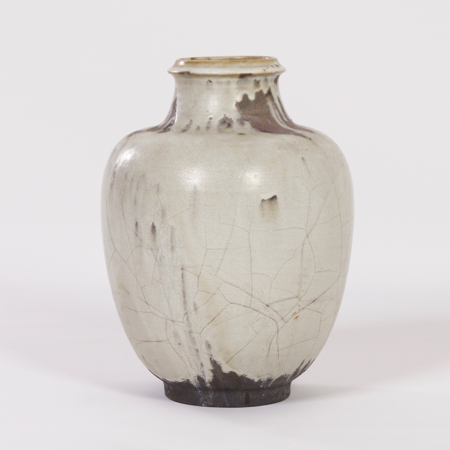 Large hand made ceramic vase with white brown and black glaze for previous next reviewsmspy