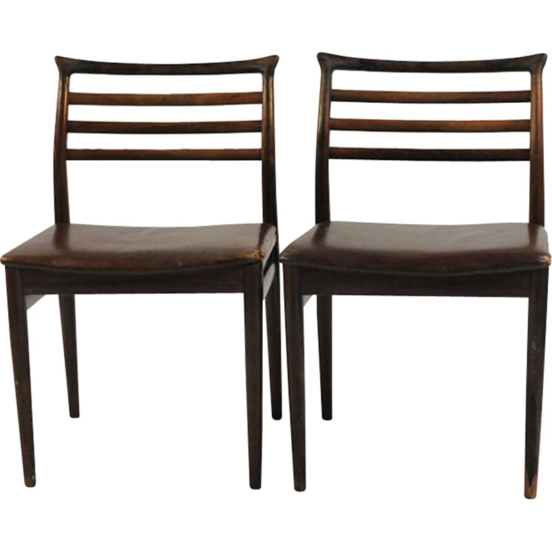 Set of Six Dining Chairs by Erling Torvits for Sorø Møbelfabrik - 1960s