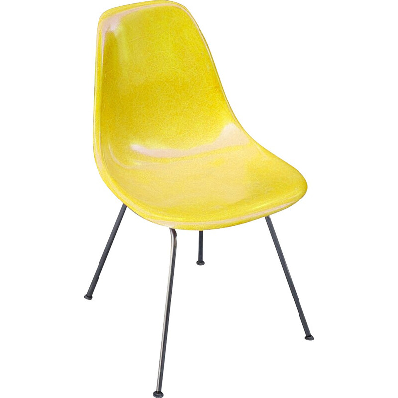 Yellow DSX Chairs by Eames for Herman Miller - 1970s