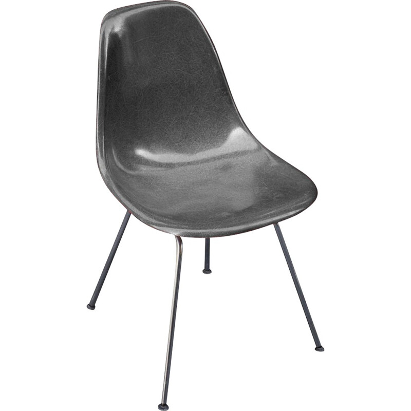 DSX Chairs gris by Eames for Herman Miller - 1970s