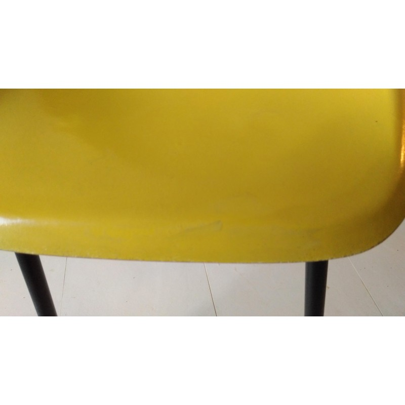 Peachy Chair In Yellow Fiberglass By Alain Richard 1950S Pabps2019 Chair Design Images Pabps2019Com