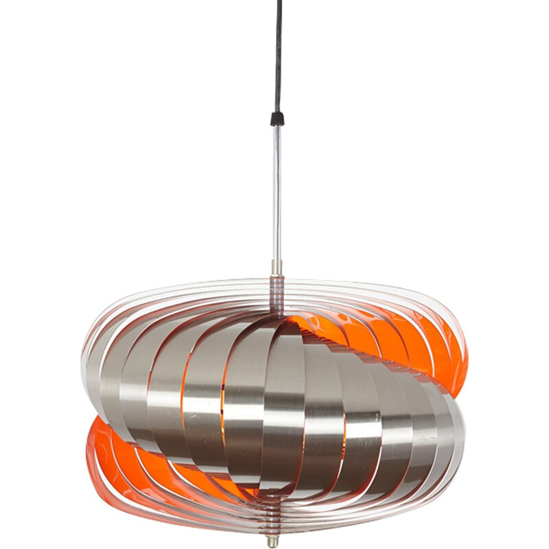 Twirling pendant lamp by Henri Mathieu - 1960s