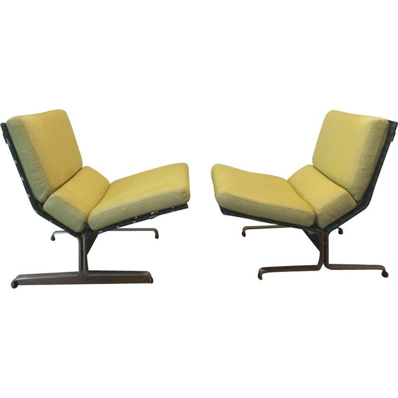 Pair of Lounge Chairs by Etienne Fermigier for Meuble et Fonction - 1960s