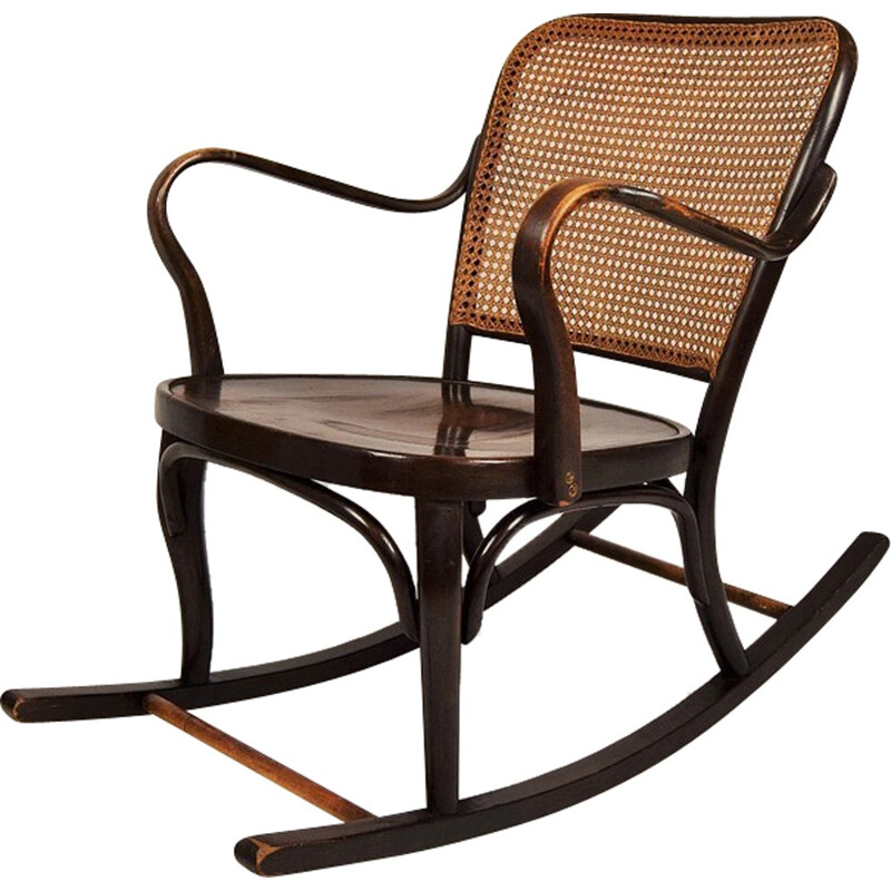 Rocking chair Thonet A 752 by Josef Frank - 1930s
