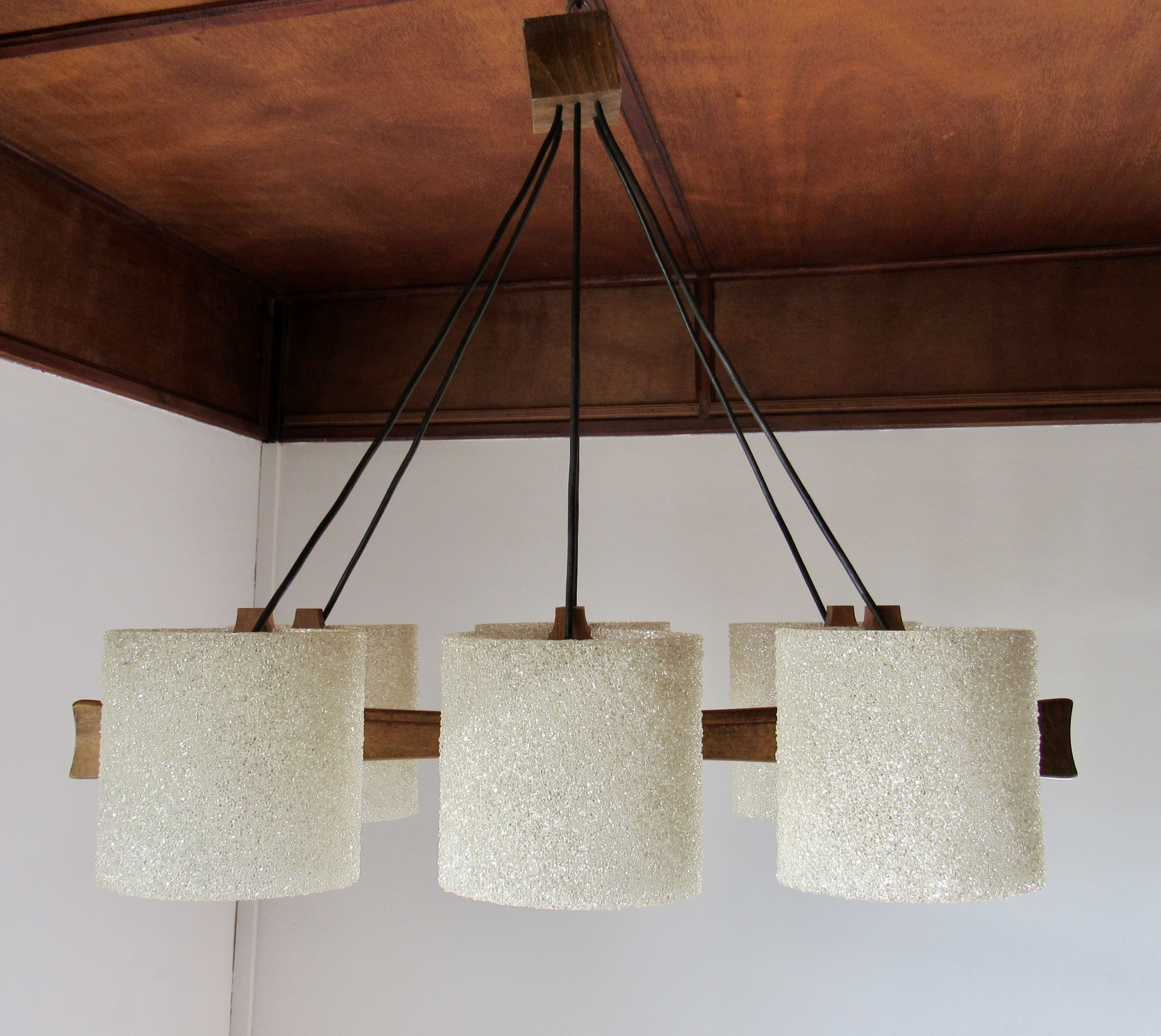 Vintage teak and perspex hanging lamp 1960s design market previous next aloadofball Choice Image