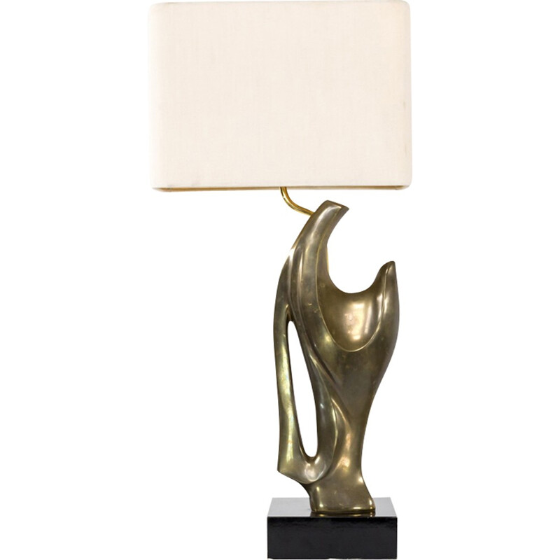 Artistic bronze table lamp - 1970s