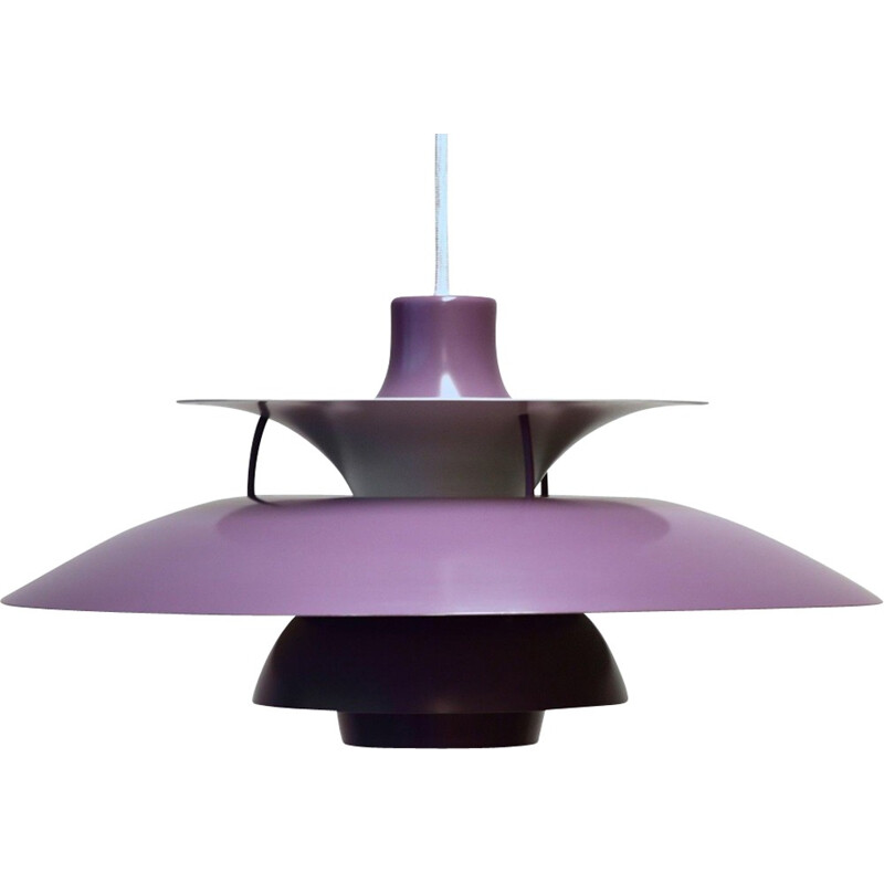 Purple PH5 pendant lamp by Poul Henningsen for Louis Poulsen - 1950s