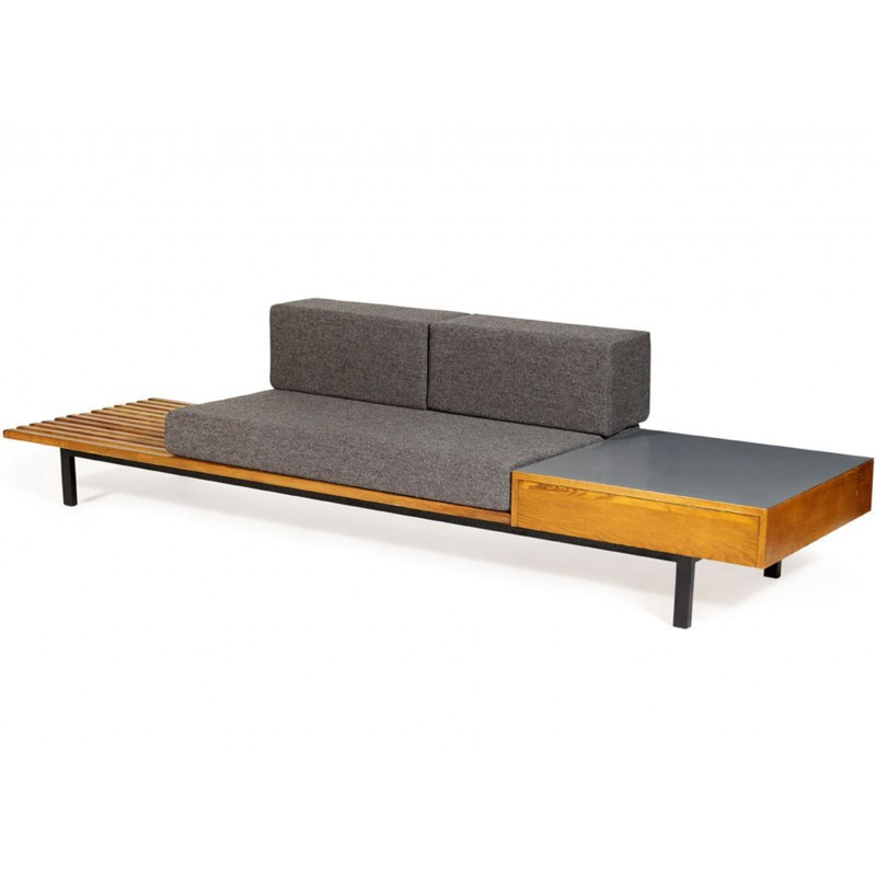 Charlotte Perriand Design.Vintage French Cansado Bench By Charlotte Perriand 1950s