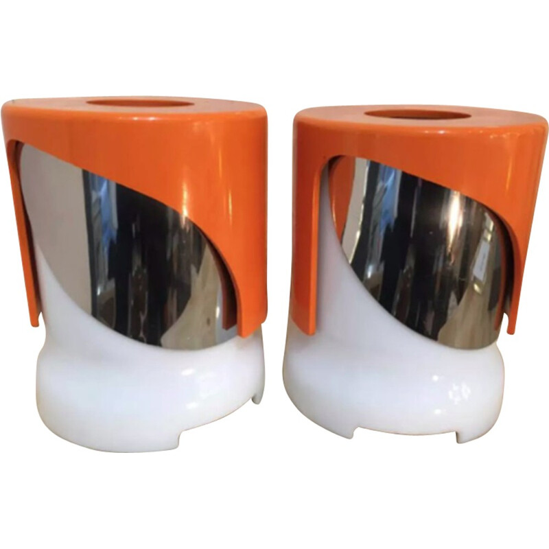 Pair of KD 24 lamps by Joe Colombo for Kartell - 1960s