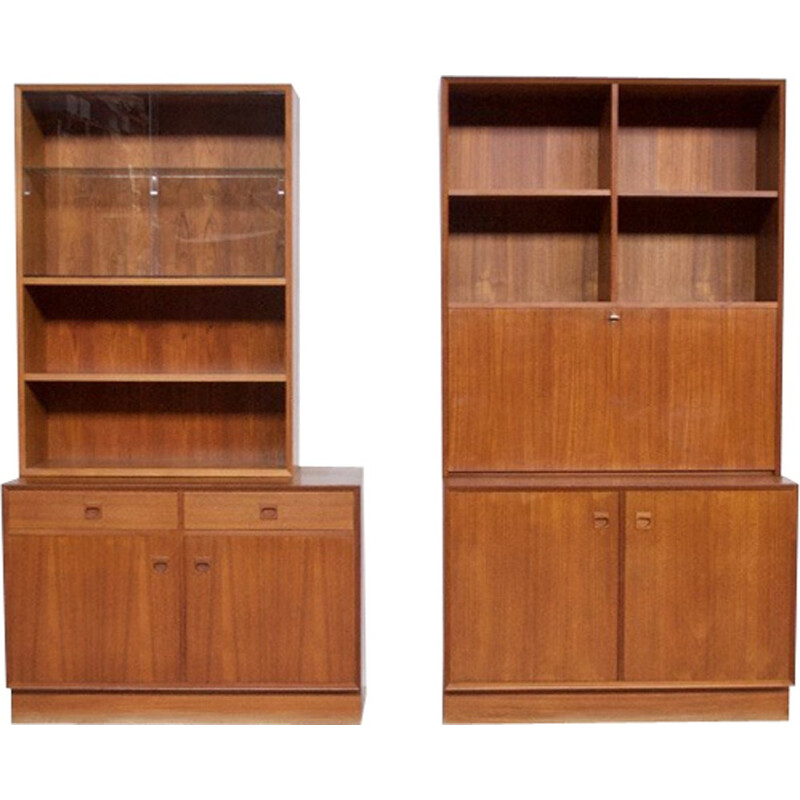 Teak storage cabinet by Erik Brouer for Mobelfabrik - 1960s