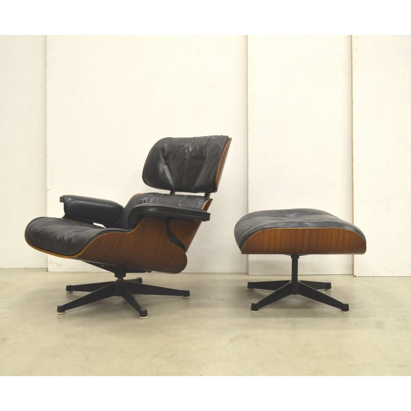 1st Edition Eames Lounge Chair U0026 Ottoman By Herman Miller   1950s   Design  Market