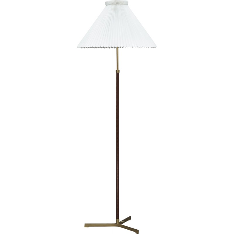 Vintage brass and leather floor lamp by illum bolighus 1960s vintage brass and leather floor lamp by illum bolighus 1960s aloadofball Image collections