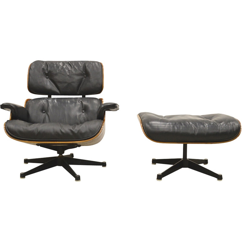 1st Edition Eames Lounge Chair & Ottoman by Herman Miller - 1950s