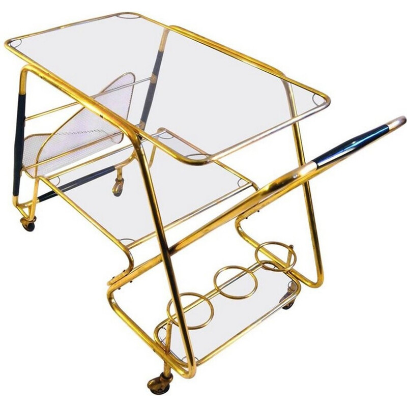 Large Bar Cart by Cesare Lacca, Italy - 1950s