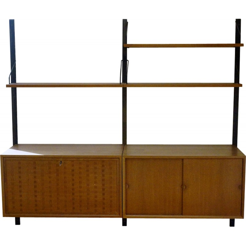 Teak Shelf Wall Unit By Poul Cadovius For Cado   1960s