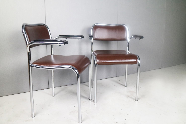 Vintage Chrome Vinyl Office Chairs 1950s Previous Next