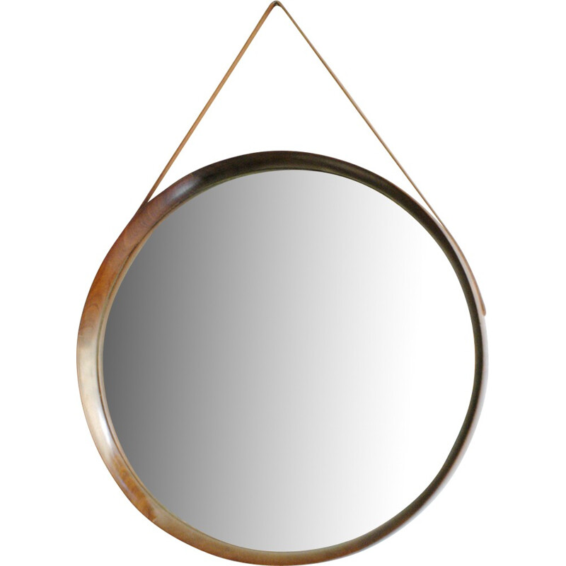 Scandinavian Circular Wall Mirror by Uno & Östen Kristiansson for LUXUS - 1960s
