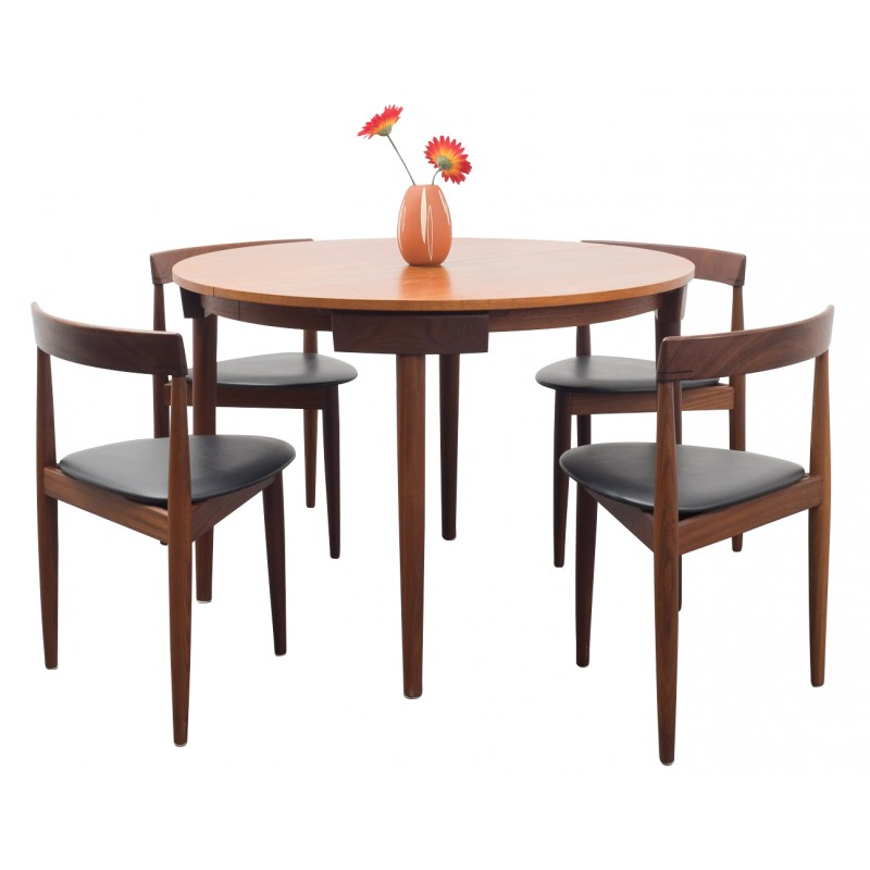 Dining Table With Four Chairs Roundette Hans Olsen 1950s