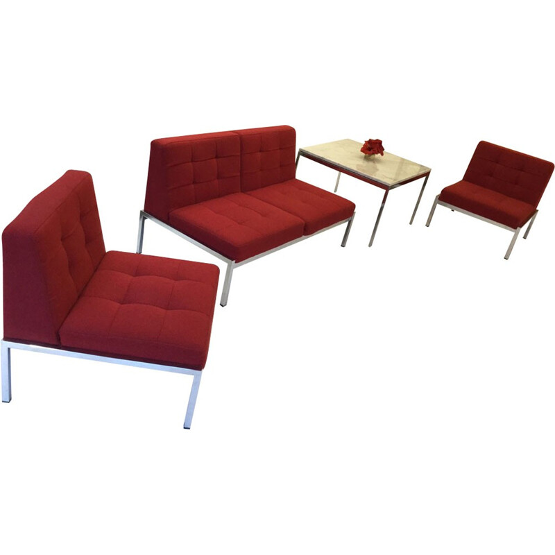 Sofa 2 seats + 2 Armchairs by J. A. MOTTE for AIRBORNE - 1961