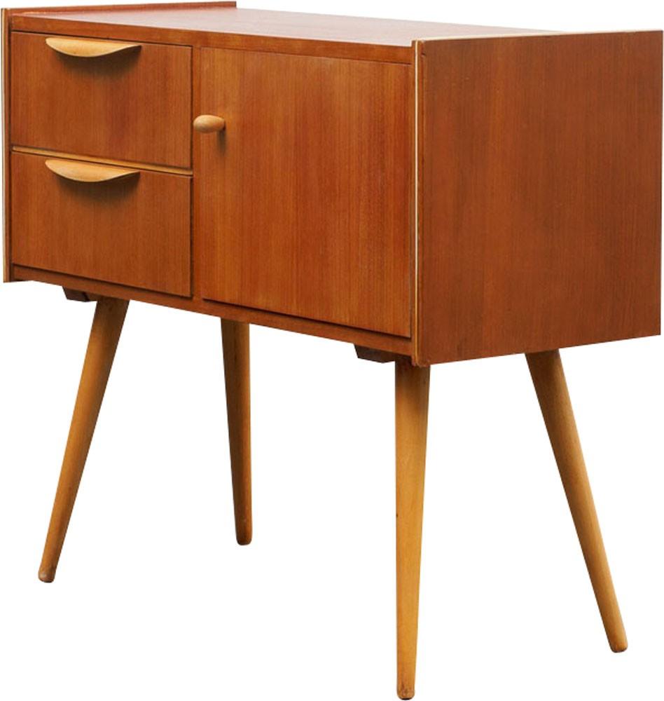 Vintage Small Teak Dresser 1950s Design Market