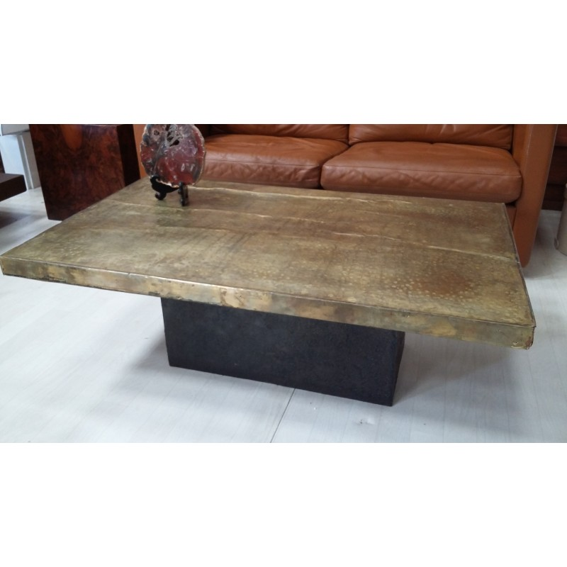 Hammered Copper Coffee Table 1970s