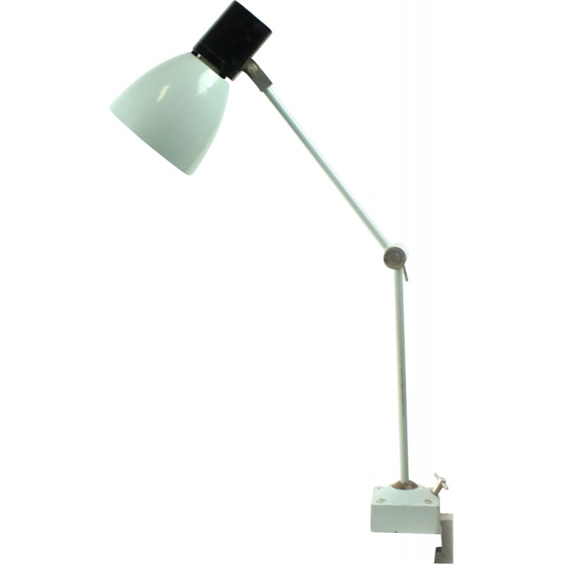 Vintage czechoslovakian Grey Industrial table Lamp - 1960s