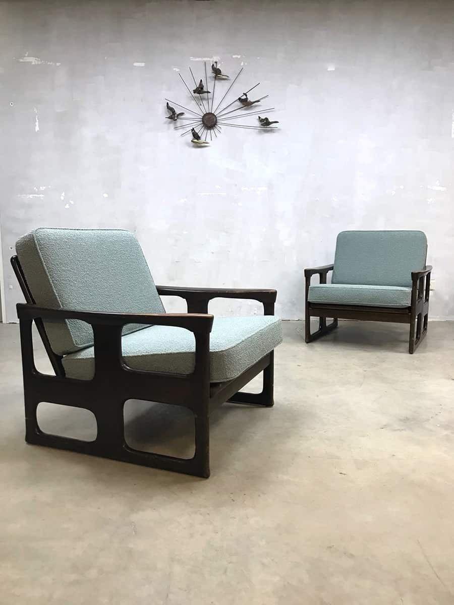 Vintage lounge set Danish design sofa chairs - 1960s - Design Market