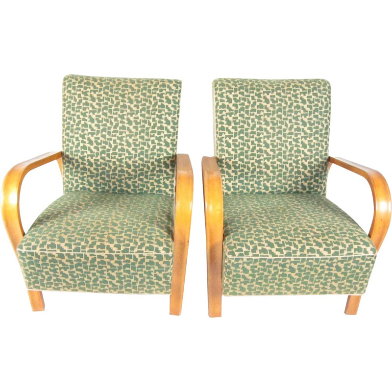 Pair of Armchairs by Jindřich Halabala for UP Závody Brno - 1940s