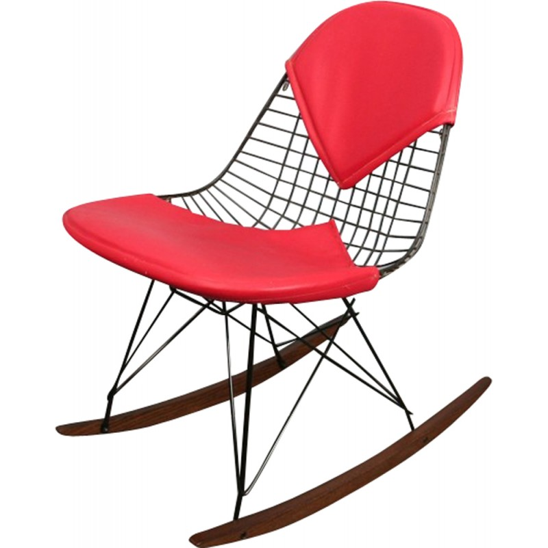 Vintage Rocking chair by Eames Herman Miller - 1950s