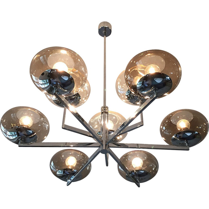 Vintage Chandelier by Gaetano Sciolari for Amilux - 1970s