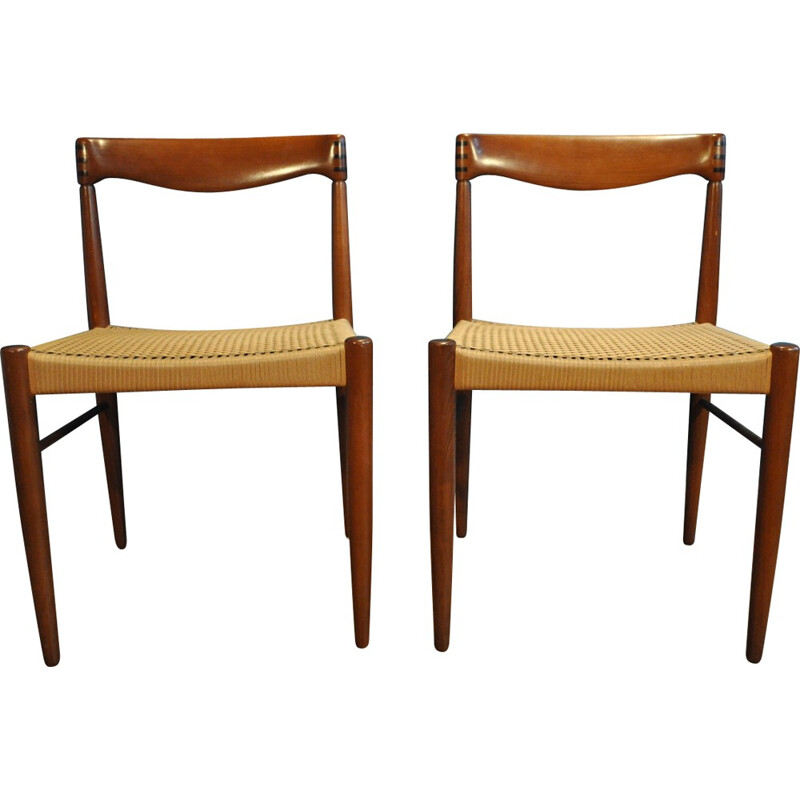 Pair of Vintage Chair by H.W. Klein for Bramin - 1950s